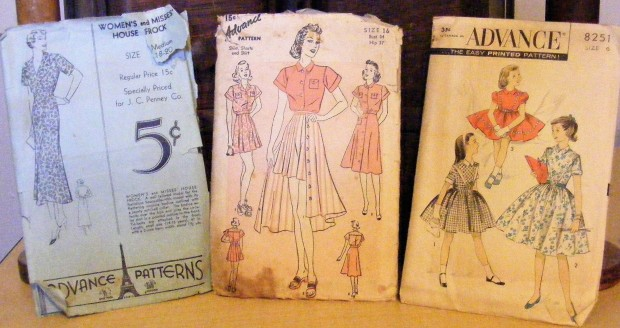 VINTAGE ADVANCE SEWING PATTERN HAUL – The Corky Farm Girl